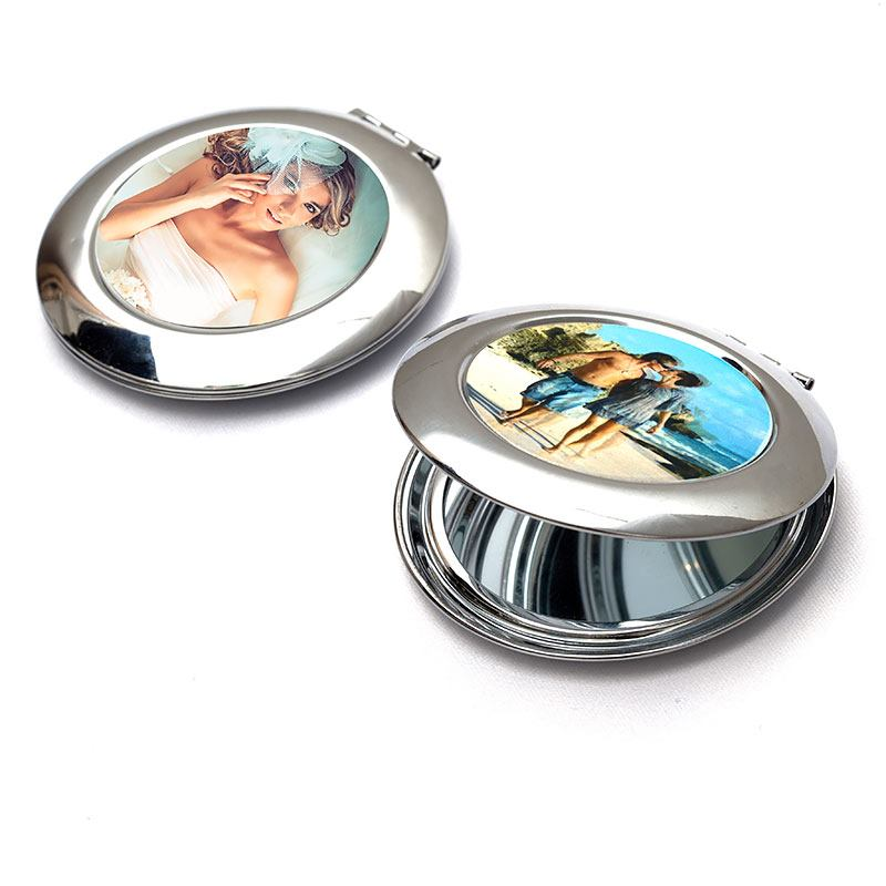 personalized compact mirror with your photo custom. Black Bedroom Furniture Sets. Home Design Ideas
