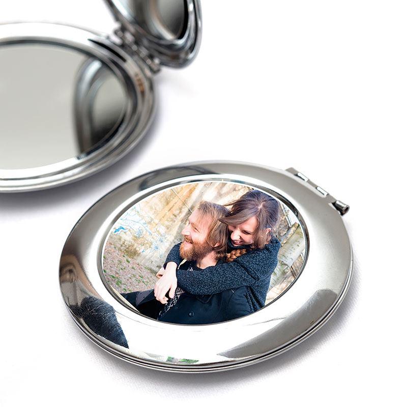 miroir de poche photo objets imprim 233 s id 233 e cadeau photo