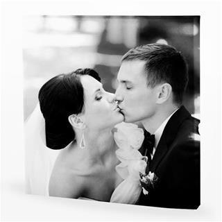 Tableau noir et blanc mariage