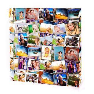 collage de fotos en lienzo