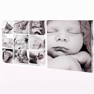 stampa su tela due pannelli foto neonato bambino