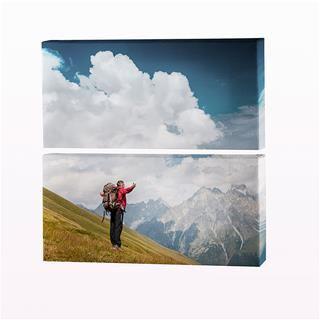 Foto lienzo diptico con nubes