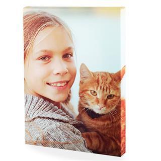 Mini lienzos personalizados niña con gato