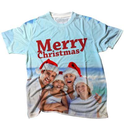 T-shirt med eget tryck julafton