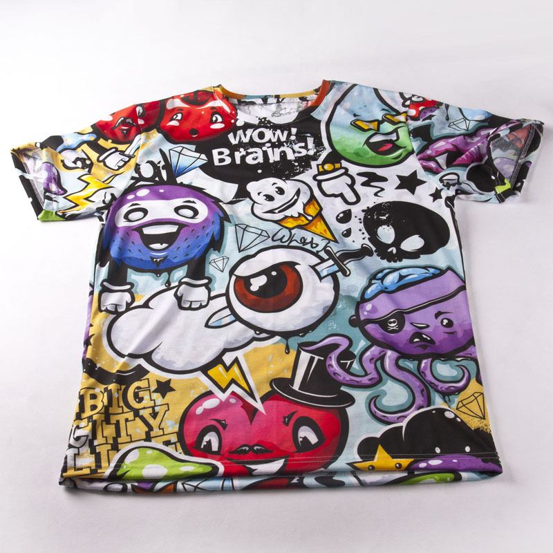 Custom print cut sew t shirts cut and sew shirt printing for All over printing t shirts