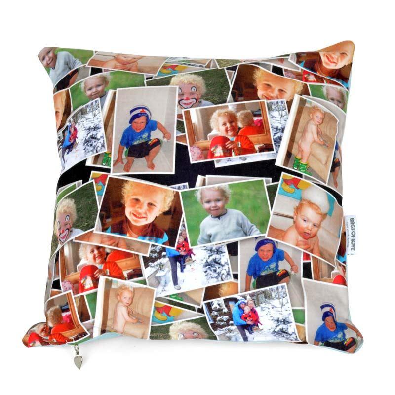 Coj n con fotomontaje cojines con collage personalizado - Cojines con tu foto ...