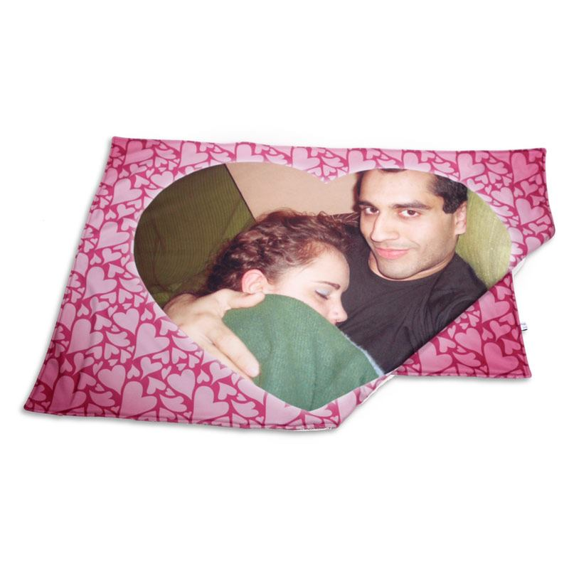 plaid coeur personnalis impression photo sur plaid coeur. Black Bedroom Furniture Sets. Home Design Ideas