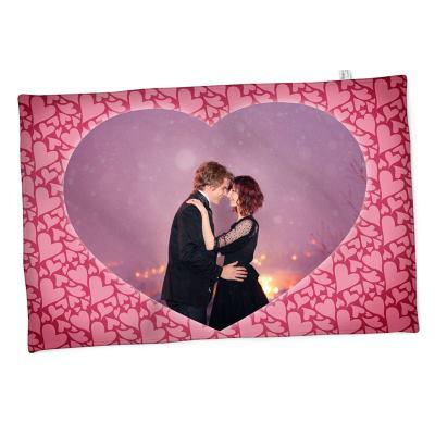 Fotofilt med hjärtformat foto