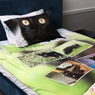 Housse de couette avec photos de chat