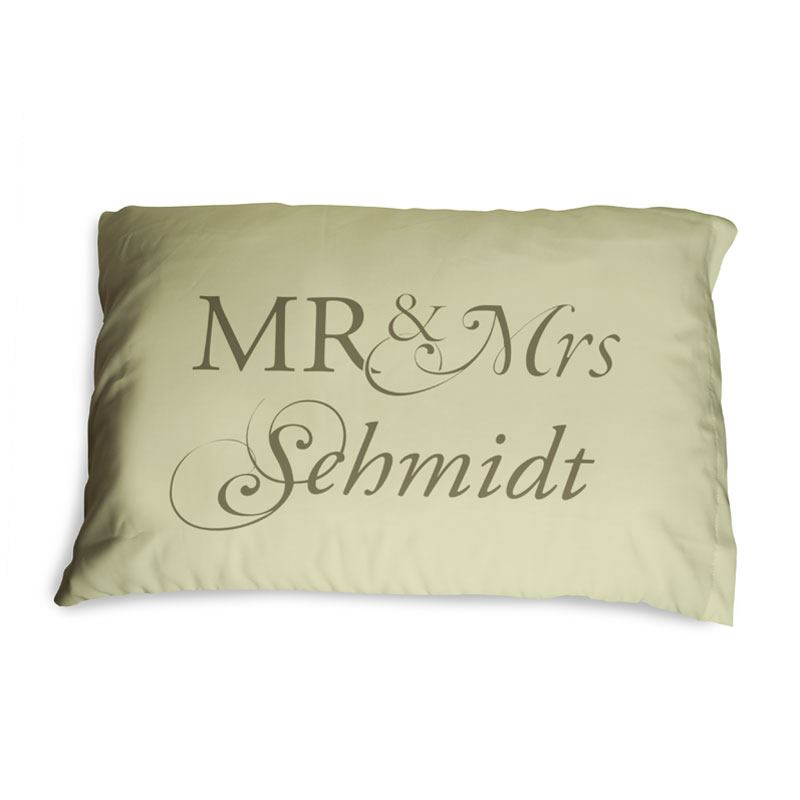 Personalised Mr Mrs Pillow Cases Design Your Own Pillow Covers Impressive Mr And Mrs Pillow Covers