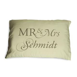 Mr and Mrs pillow cover