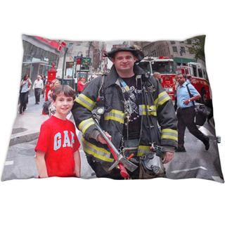 large floor cushions in 4 sizes featuring firefighter picture