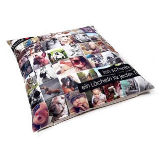large floor cushions customised with family photo montages and message
