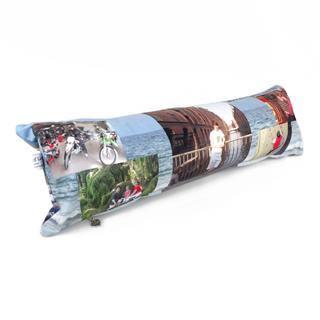 cuscino lungo personalizzato collage foto