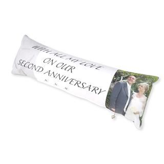handmade UK bolster cushions printed with special anniversary message