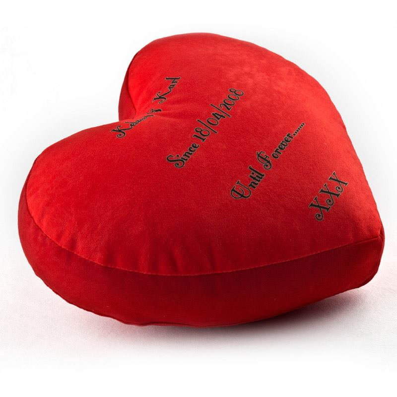 Heart Pillow With Photo Custom Heart Shaped Pillow Photo