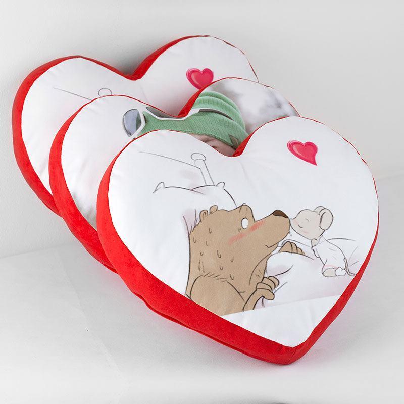 Cuscino Cuore Personalizzato  Stampa Nome, Foto o Dedica