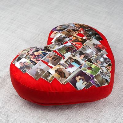 Heart Collage Cushion