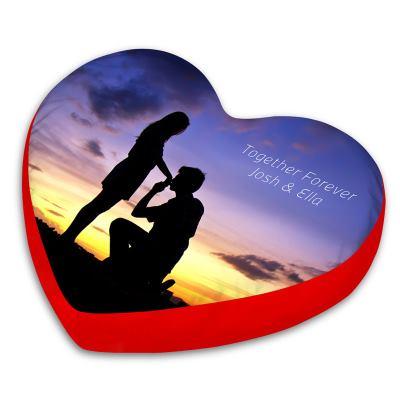 gepersonaliseerd hart kussen