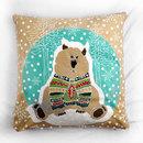 Bear printed cushion covers