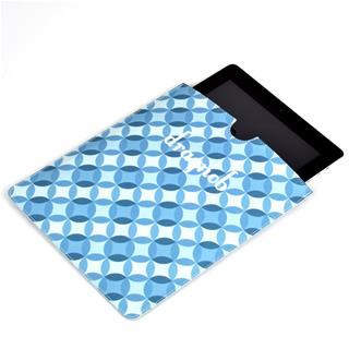iPad cases printed with blue patterns