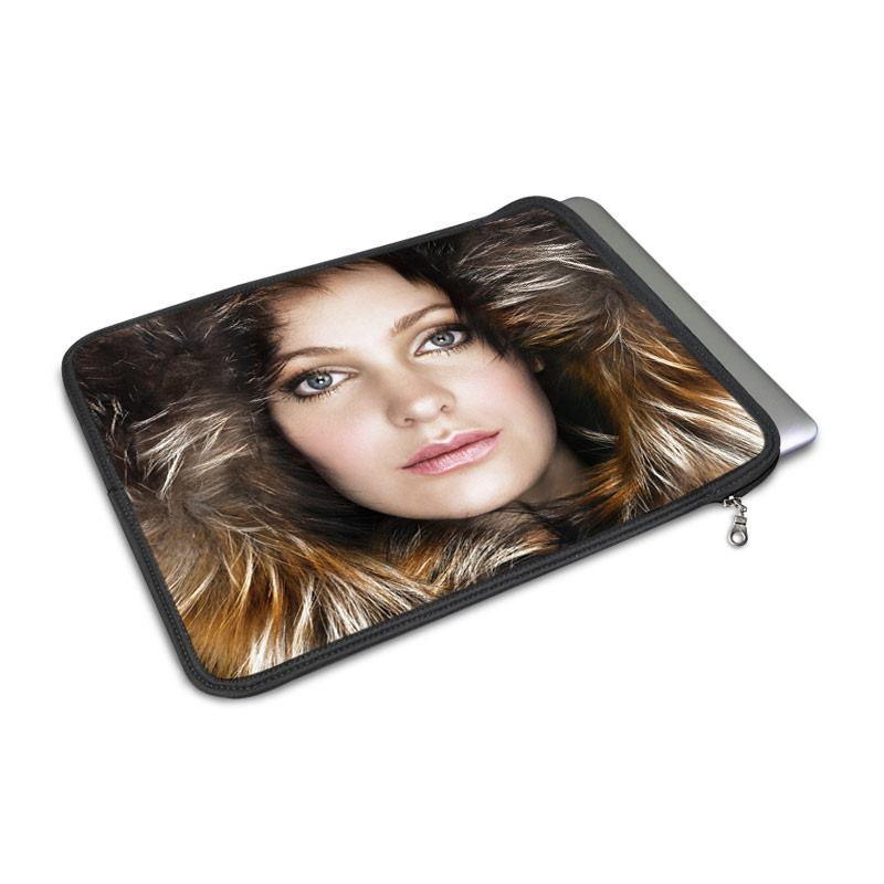 personalised macbook case printed with photo of a girl