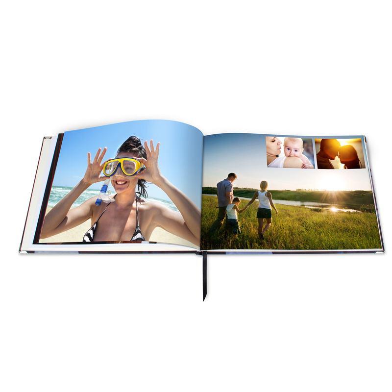 Livre avec photo de vacances