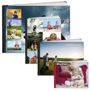 personalised photo book sizes