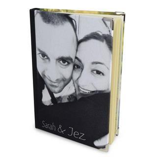 diario personalizado blanco y negro