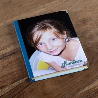 Notizbuch mit fotos