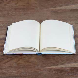 Aufgeschlagenes Notizbuch, Innenansicht