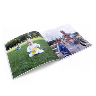 Softcover catalog pages with photos