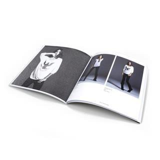 customised square line book
