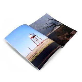 large portrait photo book open