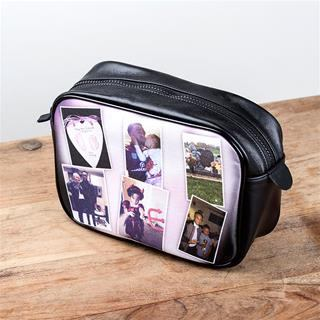 montage leather make up bag