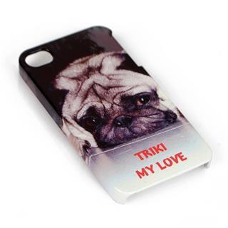 iPhone 4 Hülle bedrucken mit Namen Foto Hund und Text