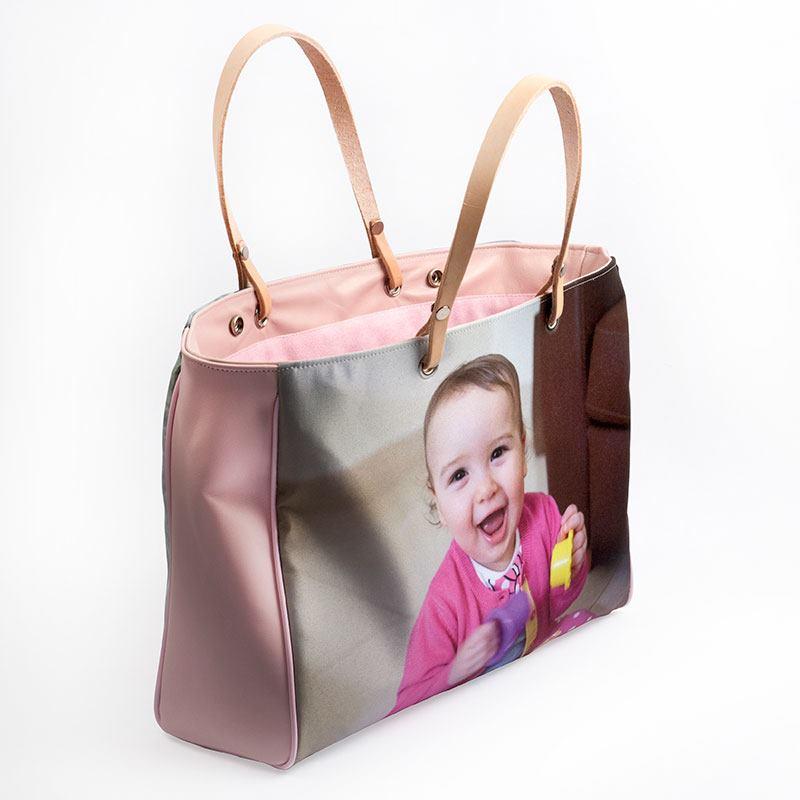 borsa personalizzabile con foto bambino