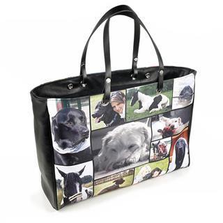 Handtasche bedrucken lassen Foto Hund