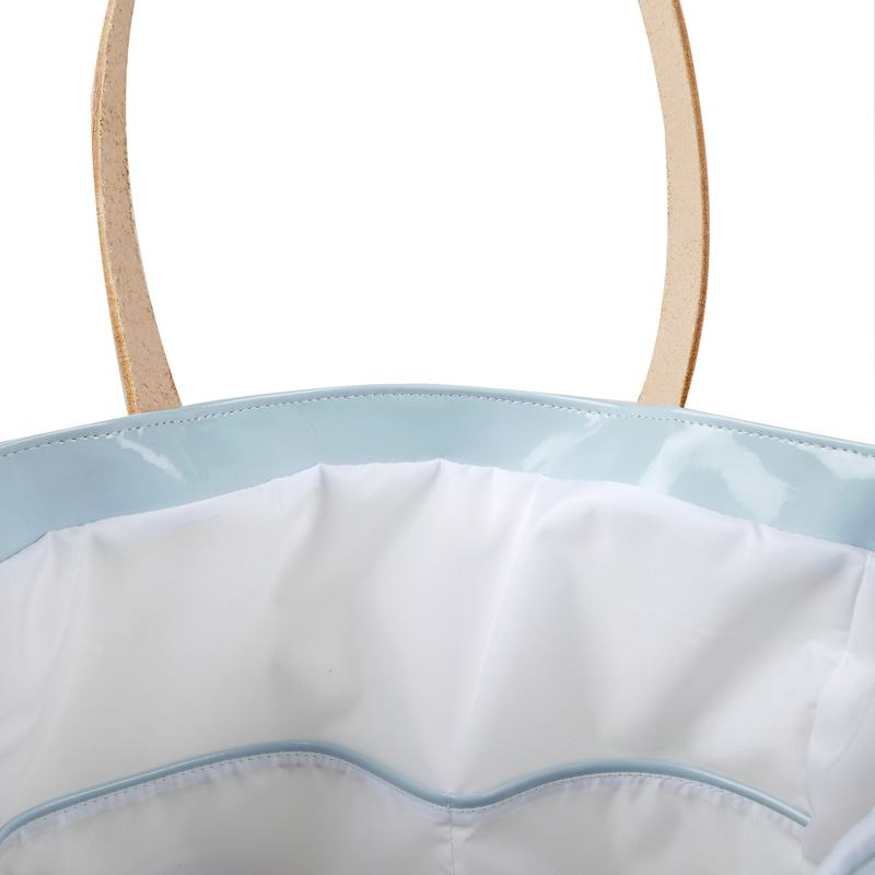 saten lucido borse personalizzate