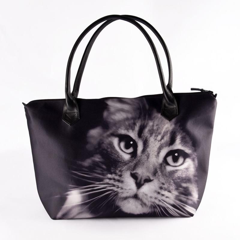 borse con cerniera personalizzabili gatti