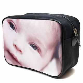 wash bag zip personalised with photos