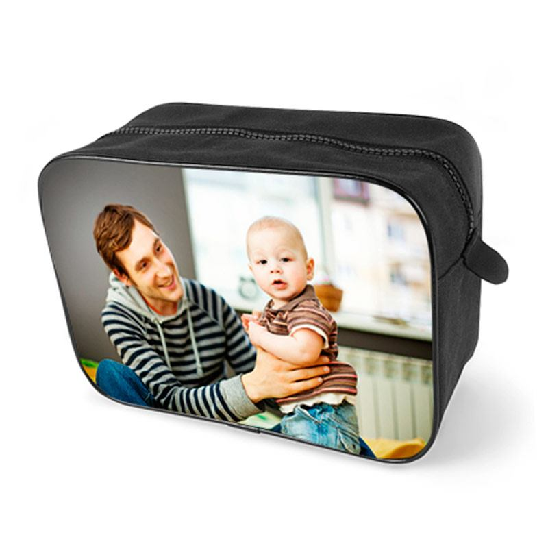 men's photo washbag