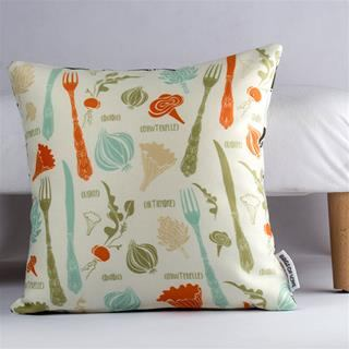 set of custom pillows with vegetable design