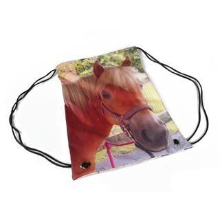 Turnbeutel selbst bedrucken Reitunterricht Pferd