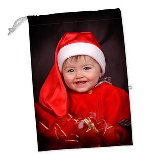 sacca porta giochi personalizzata con foto natalizia