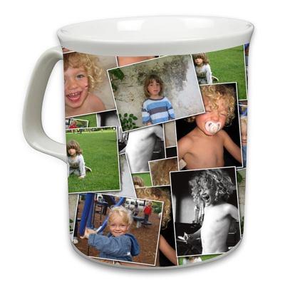 Tazza con collage di foto