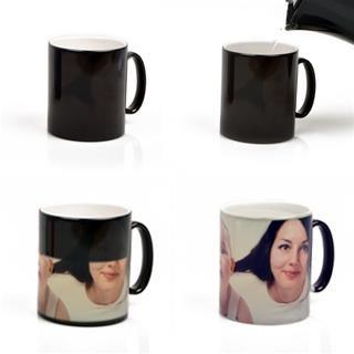 photo heat mug personalised