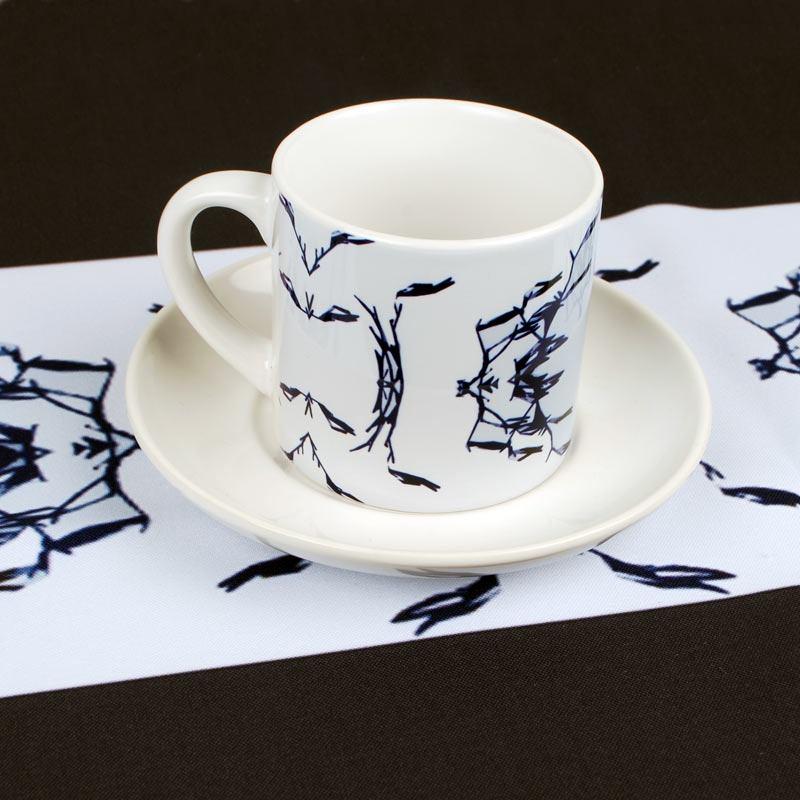 Juego de tazas personalizadas porcelana listo en 24h for Juego tazas cafe