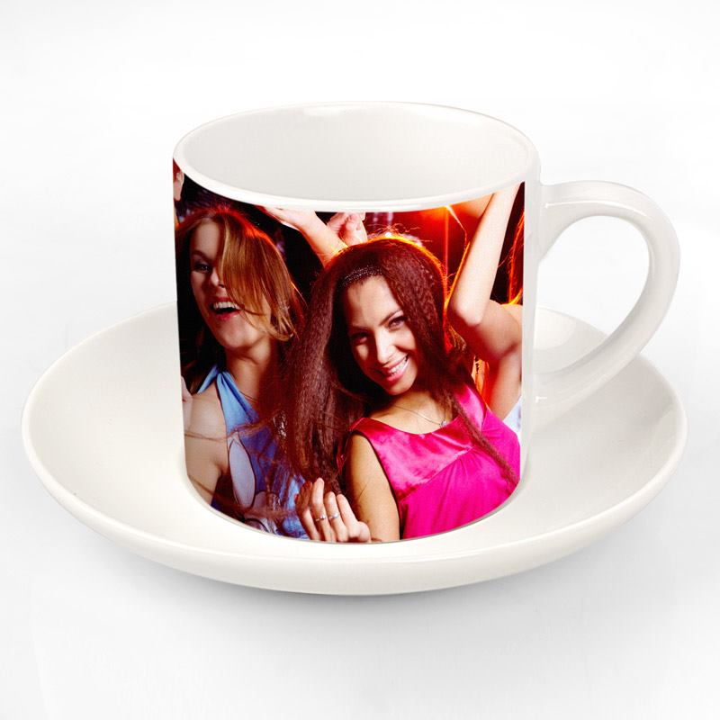 photo cups with saucer