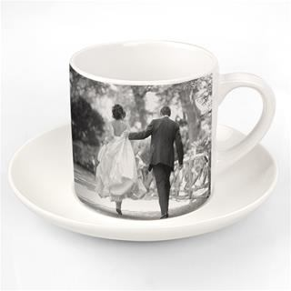 photo cup and saucer wedding
